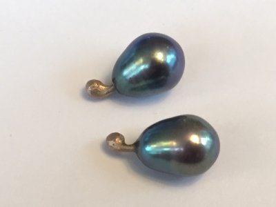 graue Zuchtperlen 11x7,5mm 150.-€
